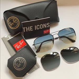 Authentic Ray-Ban Rimless Sunglasses in black